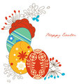 Easter eggs corner decoration Stock Images