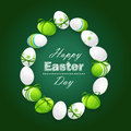 Easter eggs on a dark green background vector Royalty Free Stock Photography