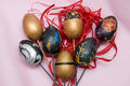 Easter eggs decorative from poland Stock Photo
