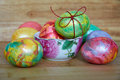 Easter eggs of different colors Royalty Free Stock Photography
