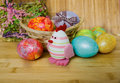 Easter eggs of different colors Royalty Free Stock Photos