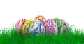 Easter eggs with euro bill textures Royalty Free Stock Photo