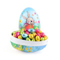 Easter eggs with Easter candy Royalty Free Stock Image