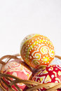 Easter eggs en Basket Stock Image