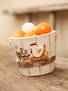 Easter eggs in  flower pot Royalty Free Stock Image