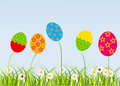 Easter eggs-flowers card Royalty Free Stock Photo