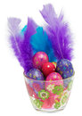 Easter eggs in glass Stock Image