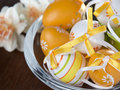 Easter Eggs In A Glass Pot