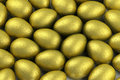Easter Eggs In Gold Foil