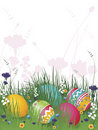 Easter Eggs on Grass Royalty Free Stock Image