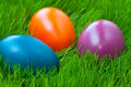Easter eggs on grass Stock Photo