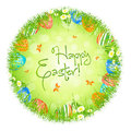 Easter Eggs in the Grass Stock Photography