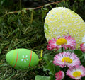 Easter eggs in the grass Royalty Free Stock Image