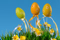 Easter eggs on grass Stock Image