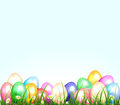 Easter eggs in a grass set of colored illustration Royalty Free Stock Photography
