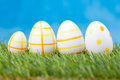 Easter eggs green grass Stock Image