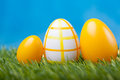 Easter eggs green grass Royalty Free Stock Image