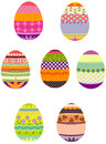 Easter eggs in a group