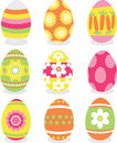Easter eggs icon set Royalty Free Stock Photos