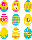Easter eggs icon set Royalty Free Stock Photo