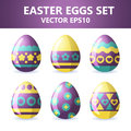 Easter eggs icons. Easter eggs for Easter holidays design on white background.