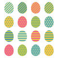 Easter eggs icons set. Easter eggs for Easter holidays design on white background