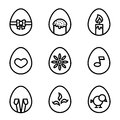 Easter eggs icons.