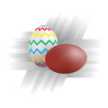 Easter eggs illustration vector color picture on the theme Royalty Free Stock Images