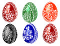 Easter eggs illustration vector of on a white background Royalty Free Stock Photos