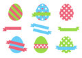 Easter eggs isolated on white background eggs for Easter holidays design