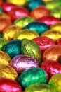 Easter eggs made of chocolate Stock Photography
