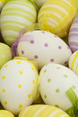 Easter eggs nestled together ribbons Royalty Free Stock Photo