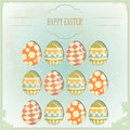 Easter Eggs -  old postcard in vintage style Royalty Free Stock Image