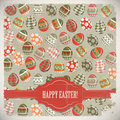 Easter Eggs -  old postcard in vintage style Royalty Free Stock Photos