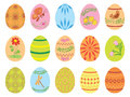 Easter eggs with ornament vector eps Stock Images