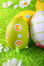 Easter eggs painted Stock Photo