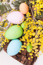 Easter Eggs In Pastel Colors Stock Photography