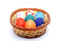 Easter Eggs In a Plastic Plate 03 Royalty Free Stock Photos