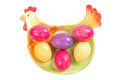 Easter eggs on plate Stock Images