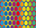 Easter Eggs Rainbow Gradient Seamless Pattern Royalty Free Stock Photo