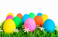 Easter Eggs in Rows Stock Photo