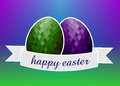 Easter eggs with sash Stock Image