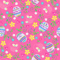 Easter Eggs Seamless Repeat Pattern Stock Image