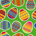 Easter eggs seamless texture with color Royalty Free Stock Photos