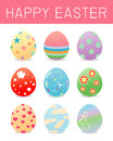 Easter eggs.set of color Easter eggs isolated on white background. Easter eggs vector icons flat style. Easter eggs. Easter eggs v