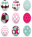 Easter eggs set of colored Stock Images