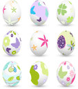 Easter eggs set of colored Royalty Free Stock Image