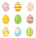 Easter eggs set of icons, design elements. on white background. Vector illustration.