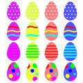 Easter eggs a set pf colored Stock Images