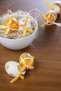 Easter eggs in the straw Stock Photography